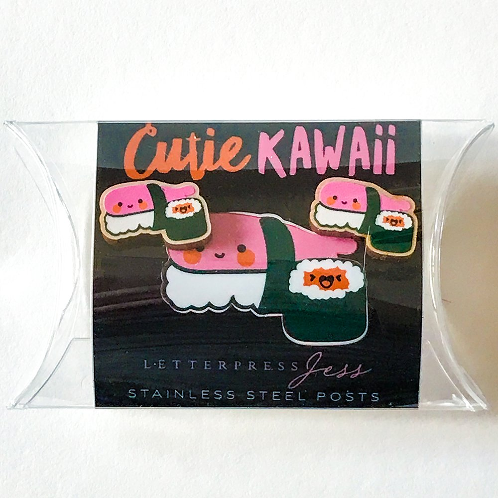 Cutie Kawaii Sushi Earring Package