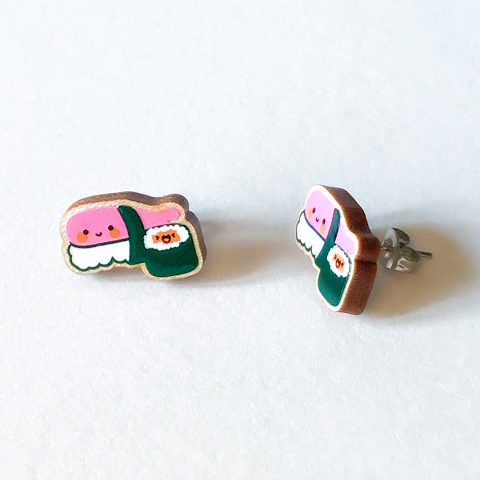 Cutie Kawaii Sushi Earrings
