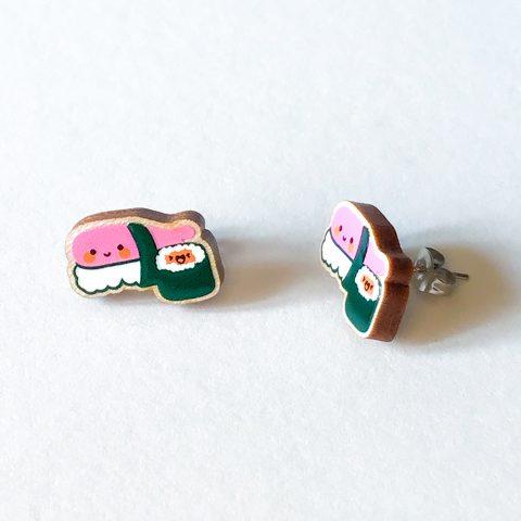 Cutie Kawaii Sushi Earrings