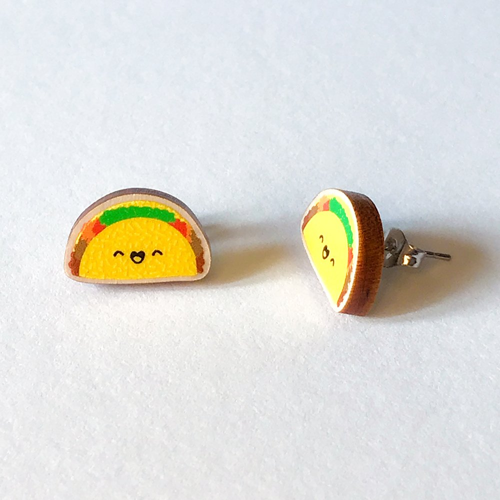 Cutie Kawaii Taco Earrings