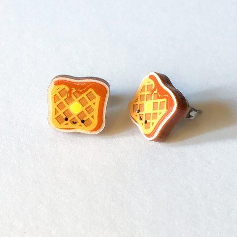 Cutie Kawaii Waffle Earrings