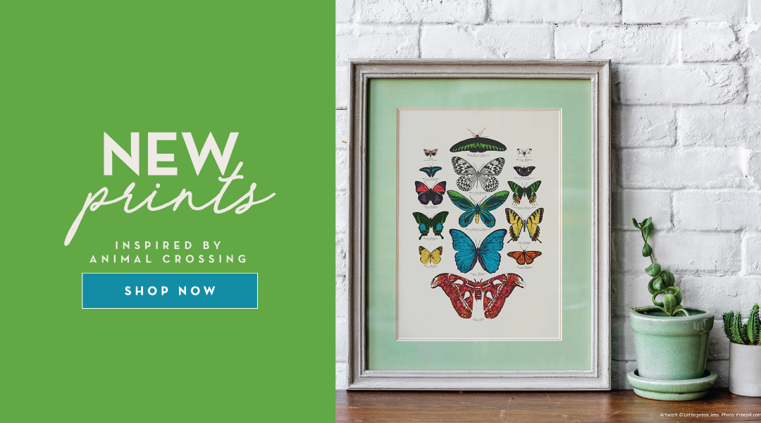 NEW Prints inspired by Animal Crossing! Shop now!