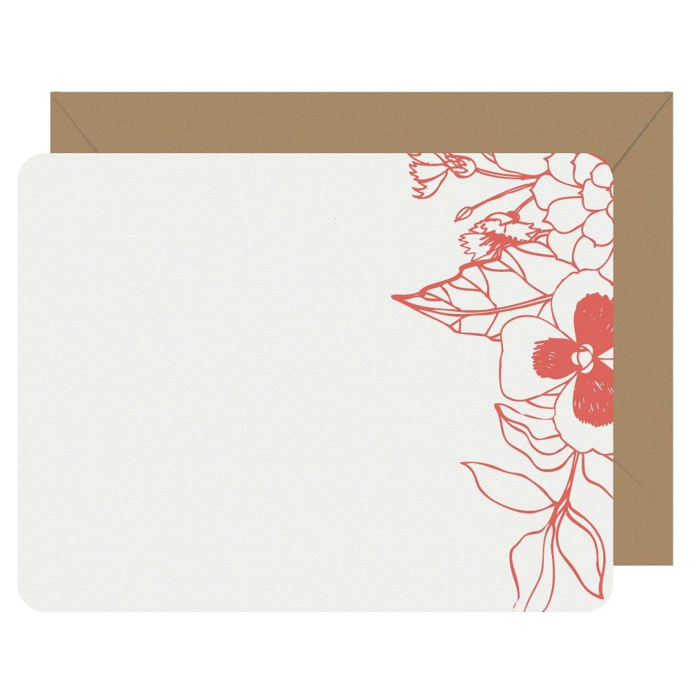 Letterpress-Jess-Wildflower-Notecards-Red-Orange