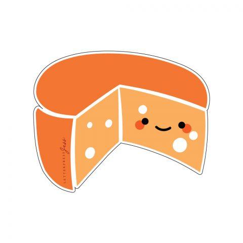 Cheese Cutie Kawaii Sticker by Letterpress Jess