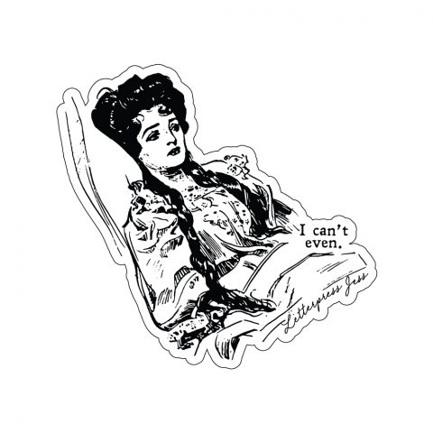 Can't Even Gibson Girl Sticker by Letterpress Jess