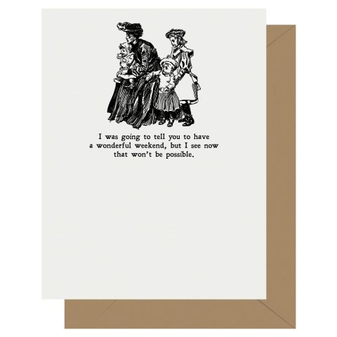 Letterpress Jess Gibson Girl Nice Weekend