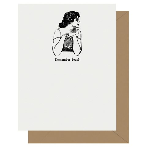 Letterpress Jess Gibson Girl Remember Bras?