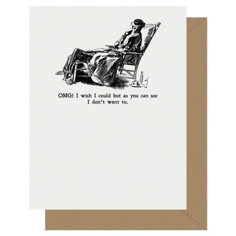 Letterpress Jess Gibson Girl OMG I Wish I Could