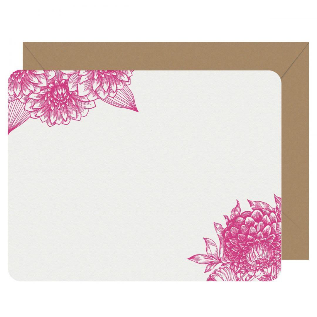 Dahlia Letterpress Jess Notecards