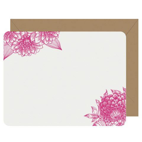 Dahlia Letterpress Jess Notecards
