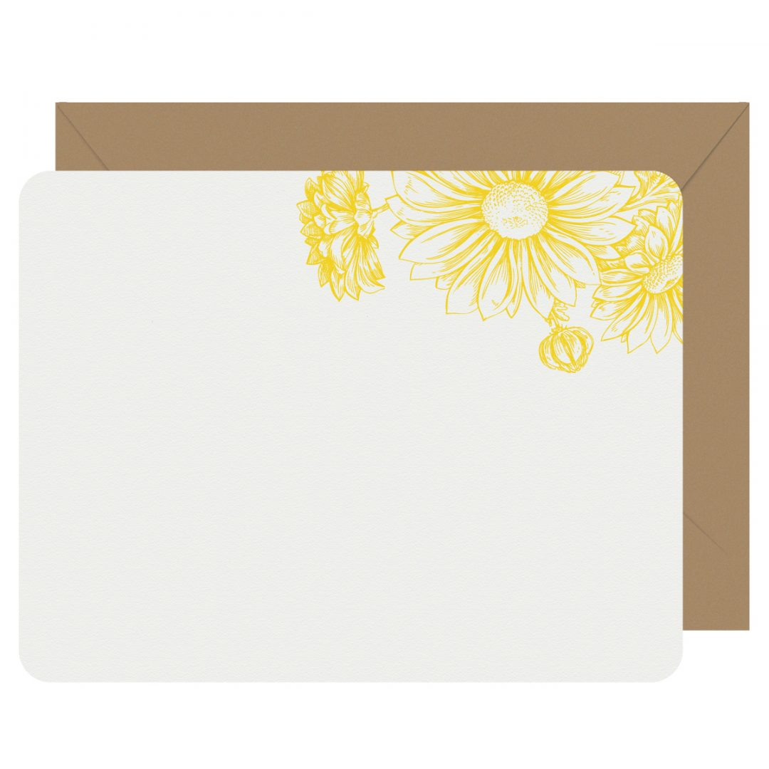 Daisies Letterpress Jess Notecards