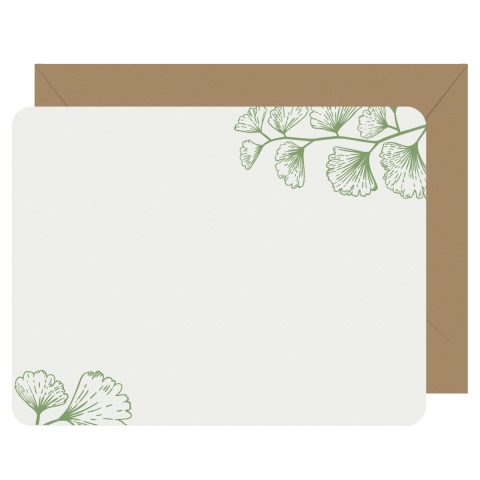 Ginkgo Letterpress Jess Notecards