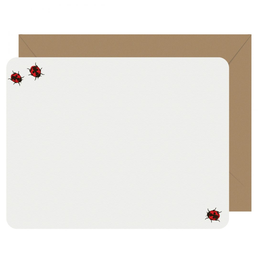 Ladybugs Letterpress Jess Notecards