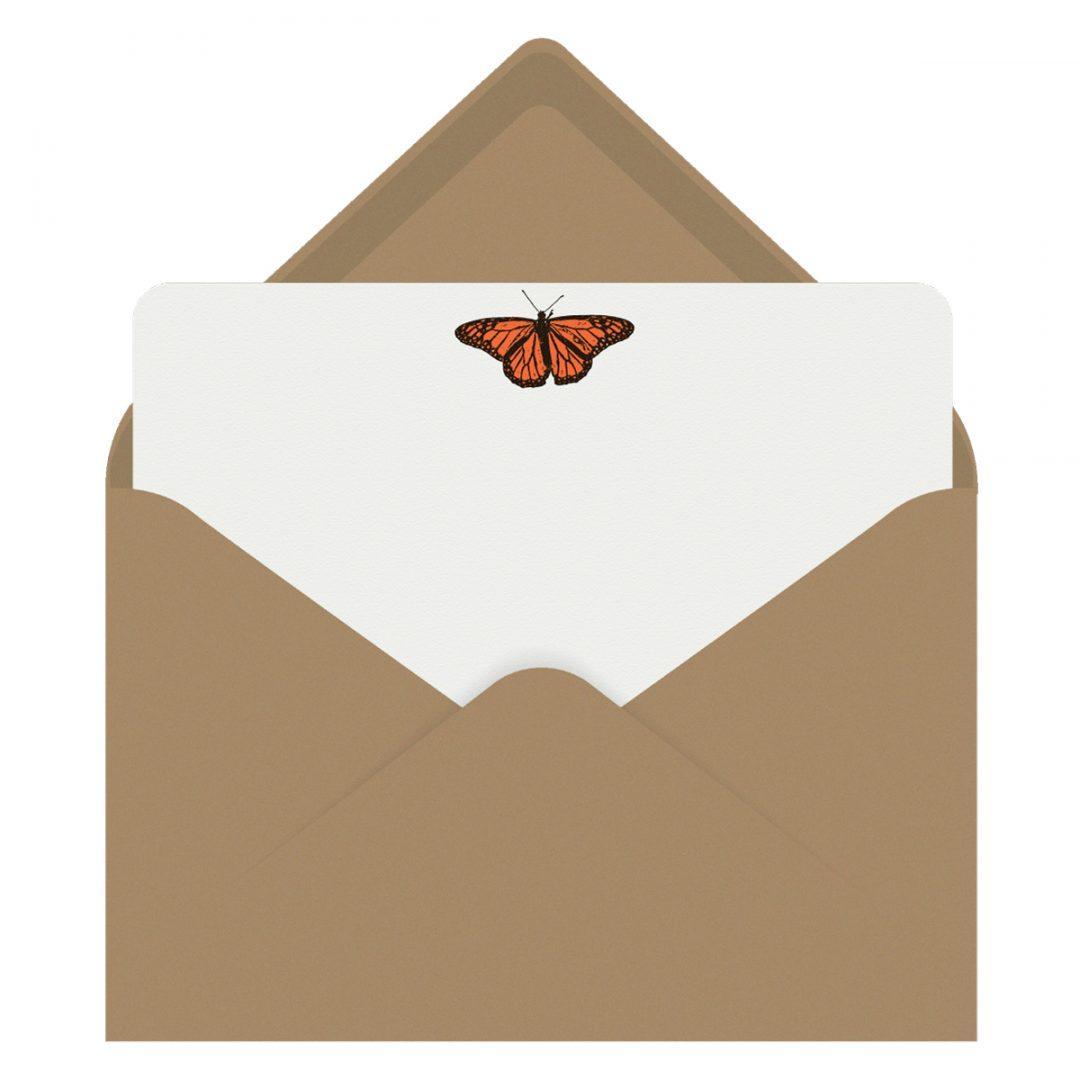 Monarch Butterfly Letterpress Jess Notecards