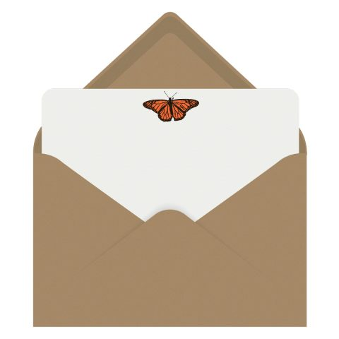 Monarch Butterfly Letterpress Jess Notecards