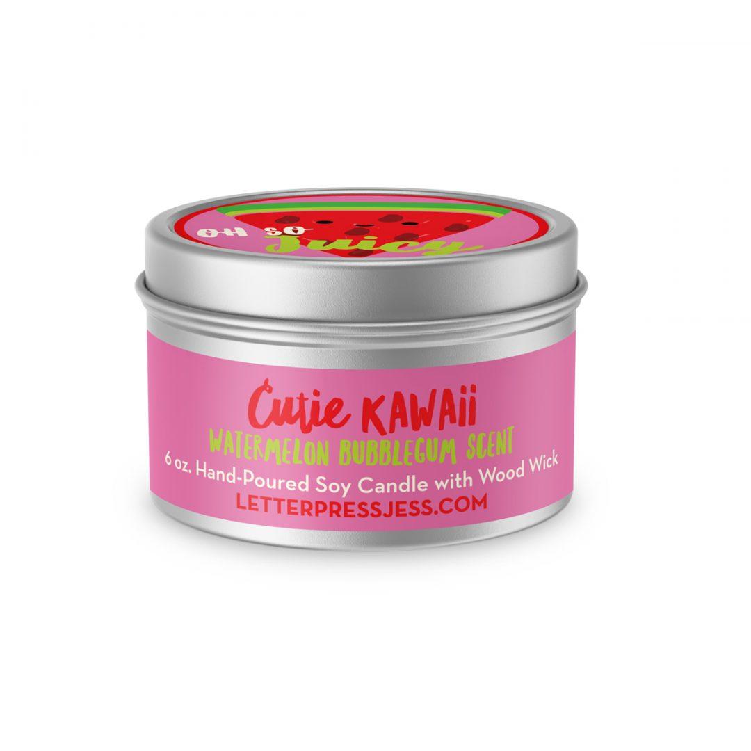Watermelon Bubblegum Scent Cutie Kawaii Candle