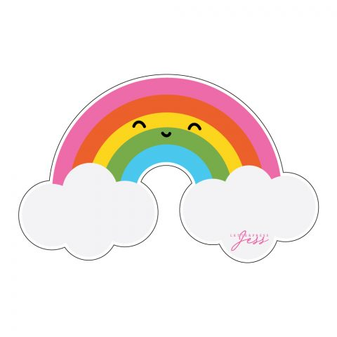 Rainbow Cutie Kawaii Sticker by Letterpress Jess