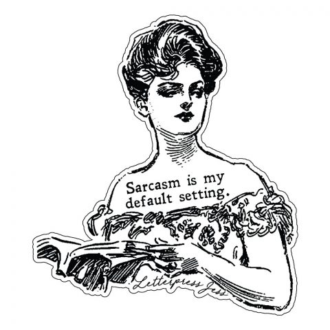 Sarcasm Gibson Girl Sticker by Letterpress Jess