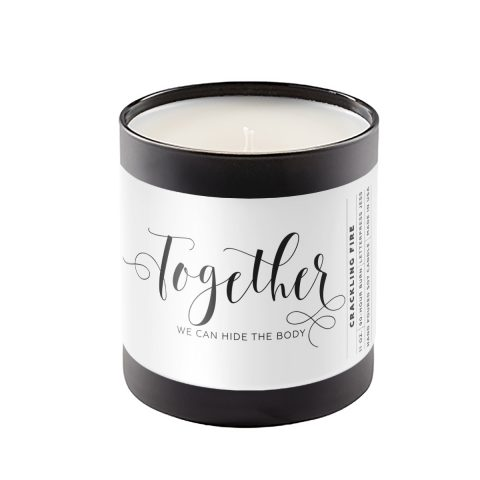 Together Crass Calligraphy Candle