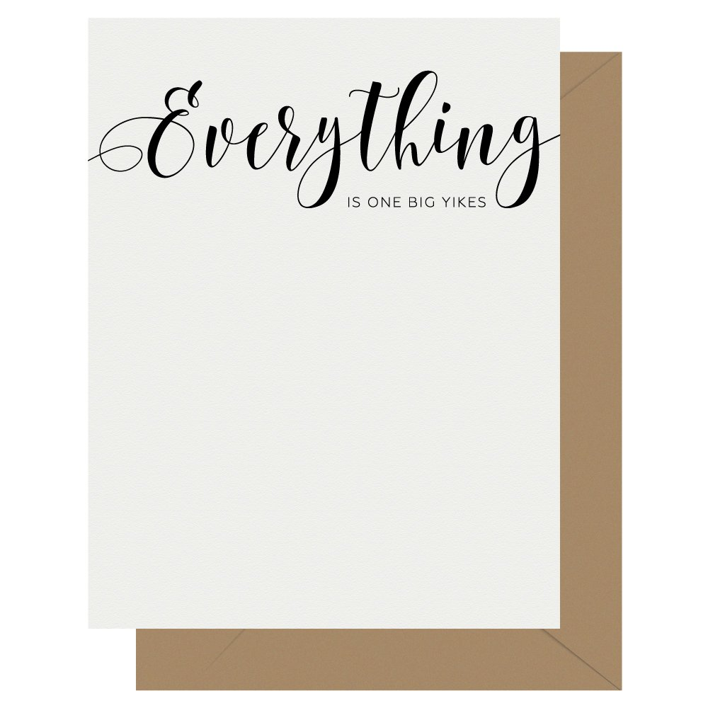 Everything Crass Calligraphy Letterpress Greeting Card