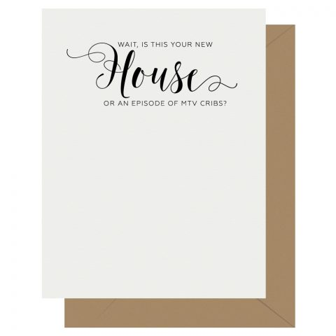 House Crass Calligraphy Letterpress Greeting Card