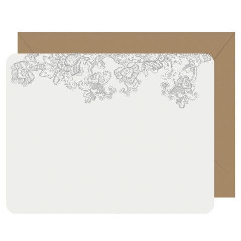 Lace Letterpress Boxed Note Cards Letterpress Jess