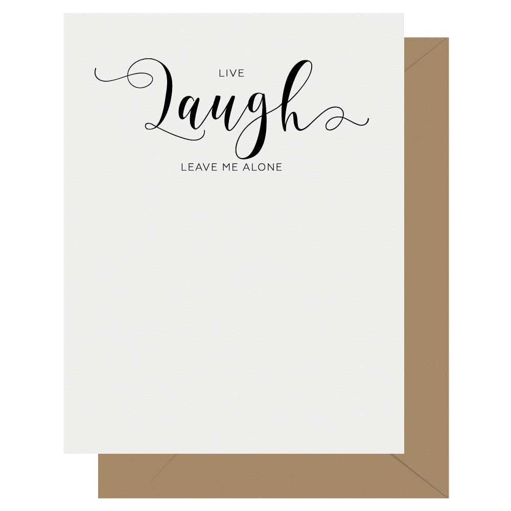 Laugh Crass Calligraphy Letterpress Greeting Card