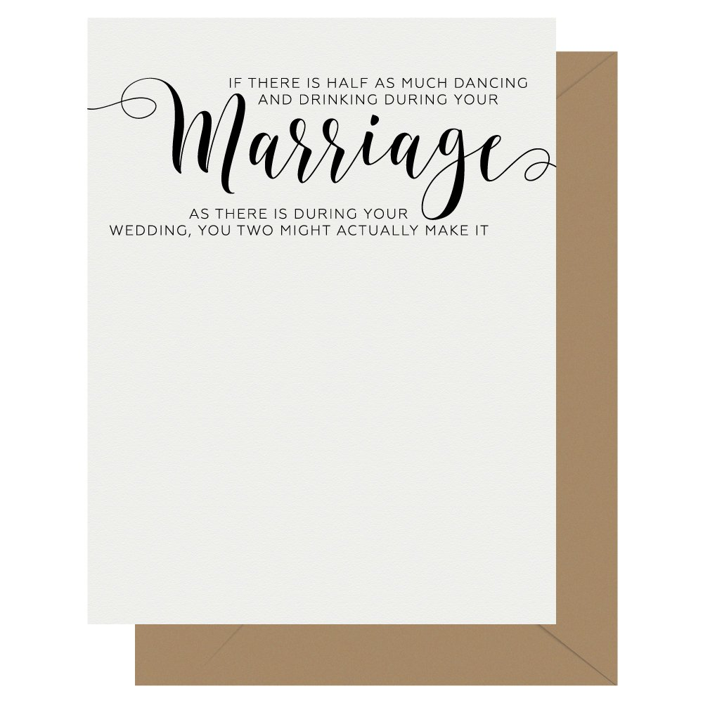 Marriage Crass Calligraphy Letterpress Greeting Card