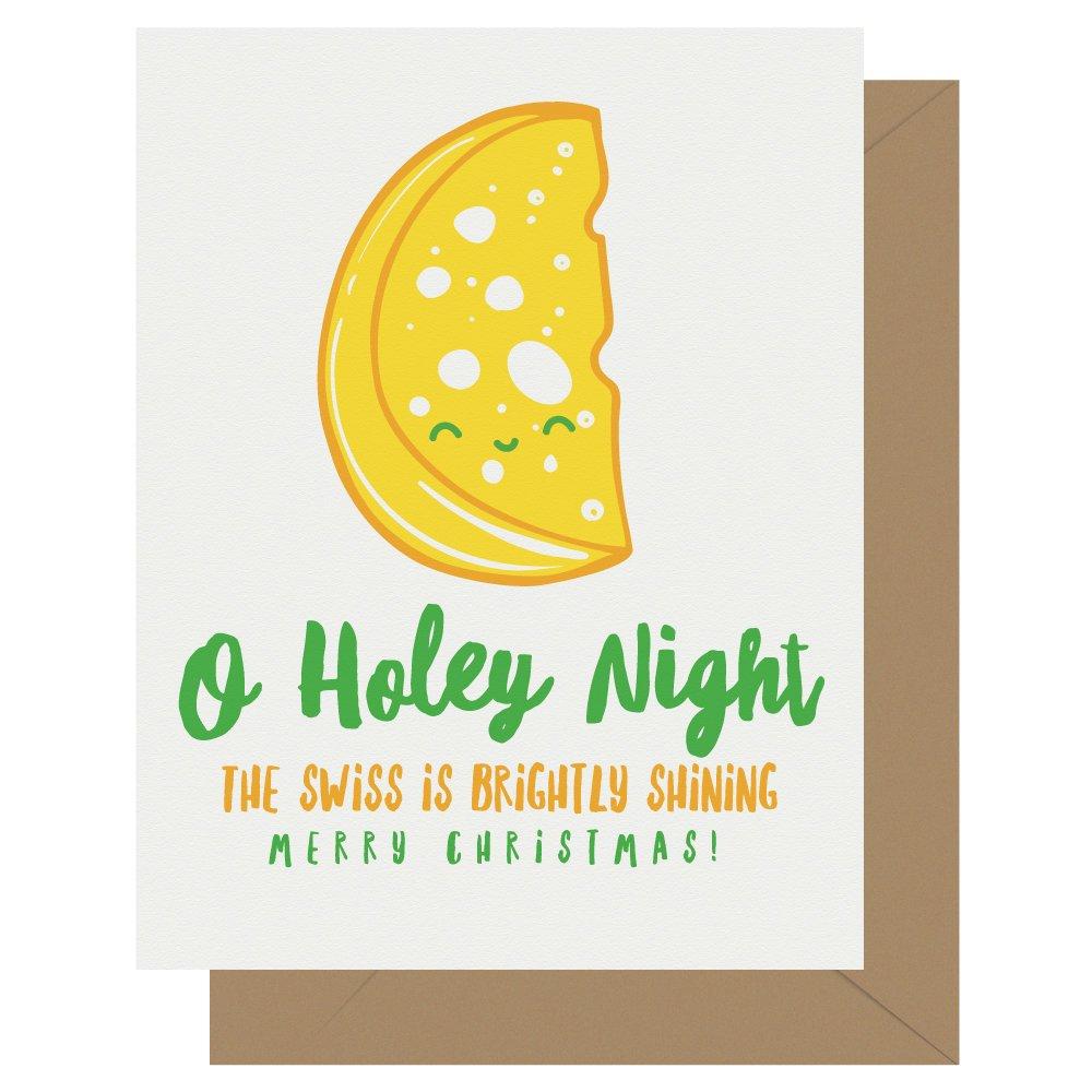 O Holey Night Cutie Kawaii Letterpress Christmas Card